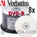 VERBATIM DVD-R 8x, 4.7GB White Inkjet Printable Surface 94971
