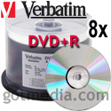 VERBATIM DVD+R 8X, 4.7GB Shiny Silver Thermal Print Surface 95052