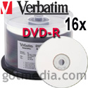 VERBATIM DVD-R 16x, 4.7GB White Inkjet Printable Surface 95078