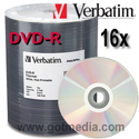 VERBATIM DVD-R 16X, 4.7GB Shiny Silver Thermal Print Surface 95203