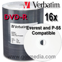 Verbatim DVD-R 16x, White Thermal  Printable 97015 - 100 pack