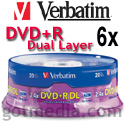 Verbatim DVD+R Dual Layer 6x 95310 - 20 pack