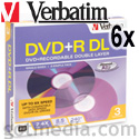 VERBATIM DVD+R Dual Layer 6X, 8.5GB Branded Surface 95014