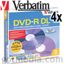 VERBATIM DVD-R Dual Layer 4X, 8.5GB Branded Surface 95165