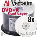 Verbatim DVD+R Dual Layer 8x 96862 - 50 pack