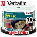 VERBATIM DVD-R, 16x, 4.7GB, LightScribe Surface - 96166 - 50 Pack