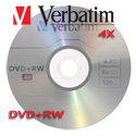 Verbatim DVD+RW 4X, 4.7GB Silver w/ Jewel Case - 94839