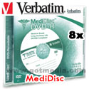 VERBATIM MediDisc DVD-R, 8X, 4.7GB Branded Surface Thermal Printable - 94905