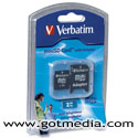 Verbatim 2GB Mini Secure Digital SD Card - 96170