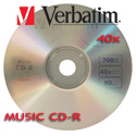 Verbatim Music CD-R 40x, 700MB Branded Silver Surface - 96319